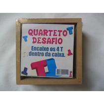 Quarteto Desafio Monte Os 4 T Brinquedo Jogo Madeira (fp)