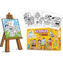 Kit Pintura Infantil Porquinhos C/ Mini Cavelete E Telas