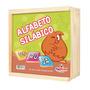 1002 - Alfabeto Silábico 150 Pçs Em Mdf Com Caixa De Madeira