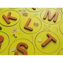 Jogo Educativo Pedagogico 3 Anos Alfabeto De Madeira