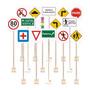 Kit Placas De Transito Educativo Escolar Com 15 Sinalizaçõe