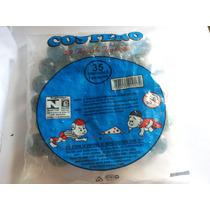 Bolinha De Gude - Pacote Com 35 Unidades Com Listra Brancas