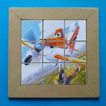 Quebra-cabeça Infantil Aviões - Mdf