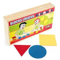 Brinquedo Blocos Lógicos Gigantes Mdf 48 Peças 1097 - Carlu