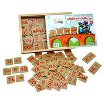 Jogo Educativo Alfabeto Silábico Com 160 Peças