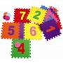 Brinquedo Educativo Tapete Amarelinha Eva 10 Placas 32x32 Cm