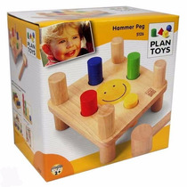 Brinquedo Educativo - Hammer Peg Plan Toys + Brinde