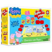 Super Massinha Modelar Diversão Peppa Papai Mamãe Pig George