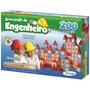 Brincando De Engenheiro 200 Peças Em Madeira Xalingo + Nf