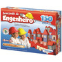 Brincando De Engenheiro 150 Peças Em Madeira Xalingo + Nf