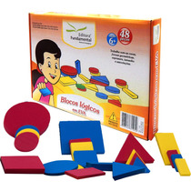 1016 - Blocos Lógicos Eva - Brinquedo Pedagógico Matemática
