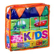 Brinquedo Educativo Pedagógico Multiblocos De Espuma 6 Em 1