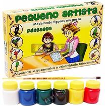 Molde Figura Gesso Brinquedo + Guache + Pincel - Passaro