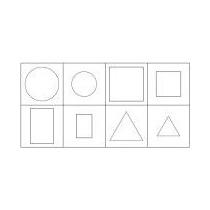Carimbo Formas Geometricas Planas Blocos Lógicos - 96