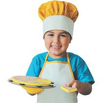 Brinquedo Madeira- Linha Comidinha- Kit Cozinheiro (03pç)