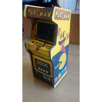 Miniatura Fliperama Diorama Maquina Arcade Pacman