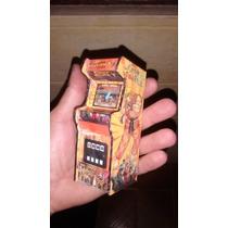 Miniatura Fliperama Diorama Maquina Arcade Street Fighter Il