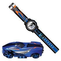 Mini Game Hot Wheels Max Turbo Com Relógio De Pulso Azul