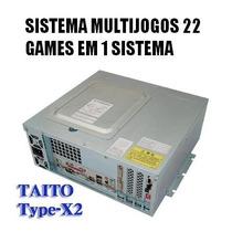 Sistema Taito Type X2 Completo 22 Jogos