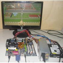 Kit Multijogos Placa Mãe + Hd Com Sistema Multijogos Arcade