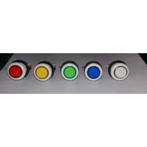Kit 10 Botões+micros, Para Fliperama,jukebox, Hall Games