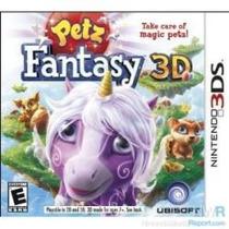Jogo Petz Fantasy 3d Da Ubisoft Para Nintendo 3ds