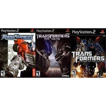 Transformers The Game Para Playstation 2 (kit 3 Jogos Ps2
