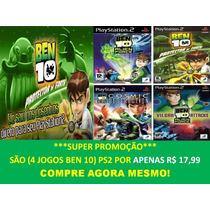 Jogo Ben 10 Para Play 2 (kit 4 Jogos Ps2 Infantil
