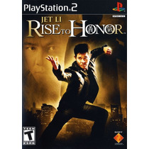 Jet Li: Rise To Honor Jogo Ps2 Lacrado Pronta Entrega