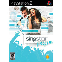 Game Singstar Pop Playstation 2 | Músicas: Avril L. Britney
