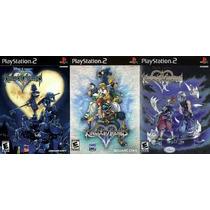 Kingdom Hearts Para Playstation 2 (kit 3 Jogos Ps2 Rpg