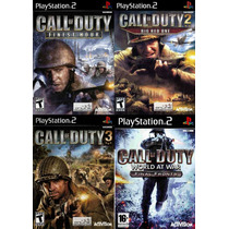 Call Of Duty Para Playstation 2 (kit 4 Games De Guerra