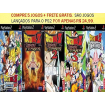 Dragon Ball Z Para Playstation 2 (kit 5 Jogos Ps2 Anime