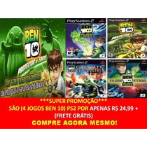 Ben 10 Alien Force Para Playstation 2 (kit 4 Jogos Ps2