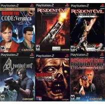 Resident Evil 4 Para Playstation 2 (kit 6 Jogos Ps2 Terror