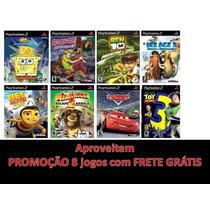 Ps2 Bob Esponja, Scooby Doo, Ben 10, Toy Story, Madagascar 2