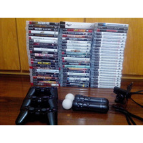Playstation 3 + 77 Jogos + 3 Controles + Kit Move - Ps3