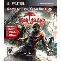 Dead Island Game Of The Year + Dlc - Novo - Ps3 - Frete R$10
