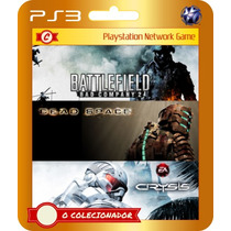 Battlefield Bad Company 2 + Crysis + Dead Space (código Ps3)