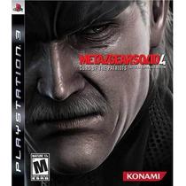 Metal Gear Solid 4: Guns Of The Patriots Jogo Ps3 Sdgames!!!