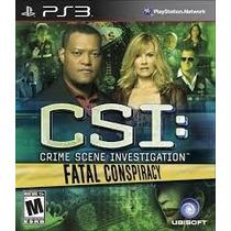 Jogo Ps3 Csi Crime Scene Investigation Fatal Conspiracy