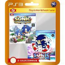 Sonic Generations + Adventure (códigos Ps3) - 2 Jogos Em 1!!