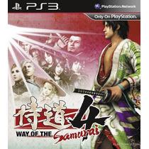 Way Of The Samurai 4 Ps3 (codigo Psn) Rafa Gamer!