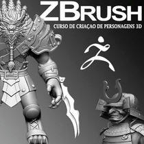 Zbrush 08 Dvds Crie Jogos Personagens Para Video Games