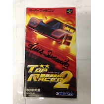 Manual Do Jogo Snes Famicom Top Racer 2 ( Top Gear 2 )