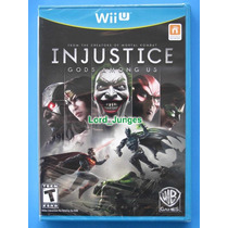 Injustice Gods Among Us - Wii U - Lacrado - Pronta Entrega.