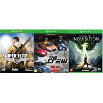 Combo Xone: Sniper Elite 3, The Crew, Dragon Age Inquisition