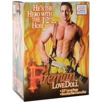 Fireman Love Doll - Boneco Inflável Bombeiro Com Casaco E C