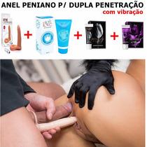 Anel Peniano Companheiro Dupla Penetração Com Vibrador A1