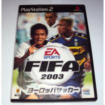 Jogo Ps2 Fifa 2003 Somente Caixa S/jogo